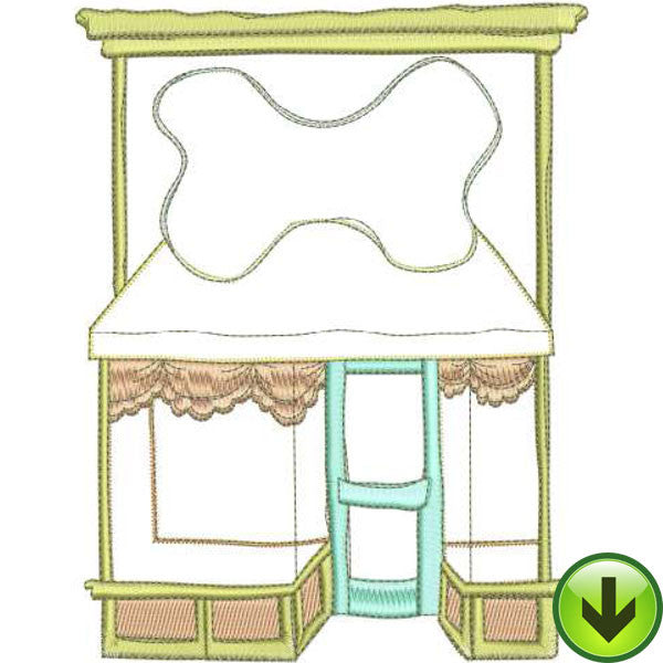 Pet Shop Machine Embroidery Design | Download