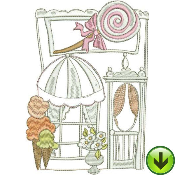 Sweet Shop Machine Embroidery Design | Download