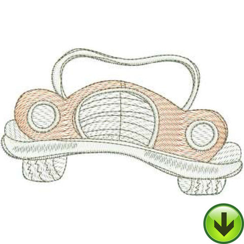 Roadster Machine Embroidery Design | Download