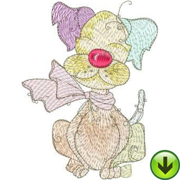Sleepy Machine Embroidery Design | Download