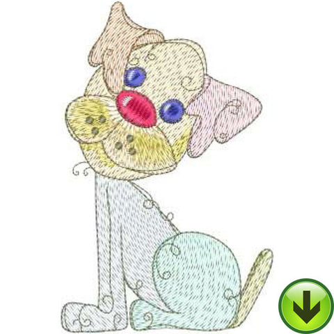 Sweetie Dog Machine Embroidery Design | Download