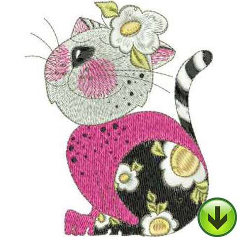 Perkie Pinkie Machine Embroidery Design | Download