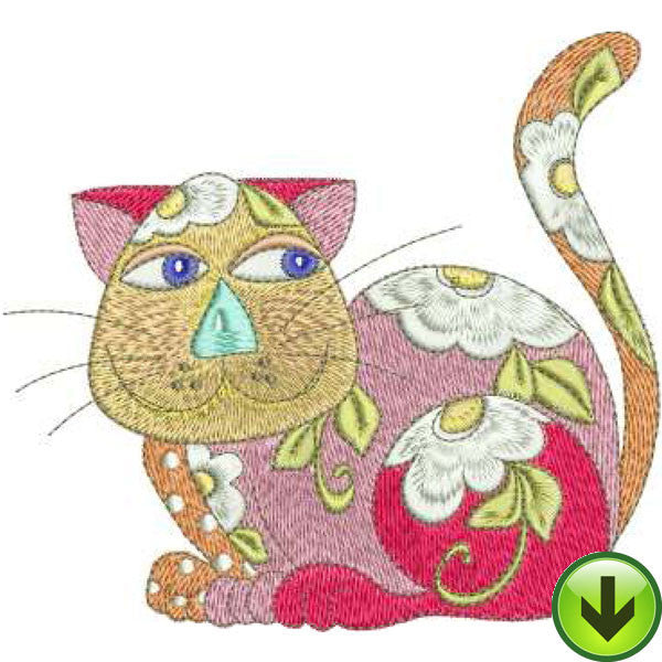 Calico Cats 1 Embroidery Machine Design Collection