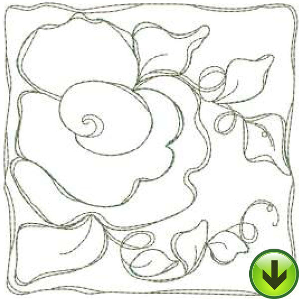 Marigold Tile Machine Embroidery Design | Download