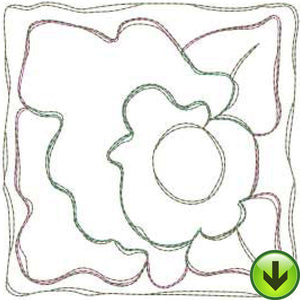 Morning Glory Tile Machine Embroidery Design | Download