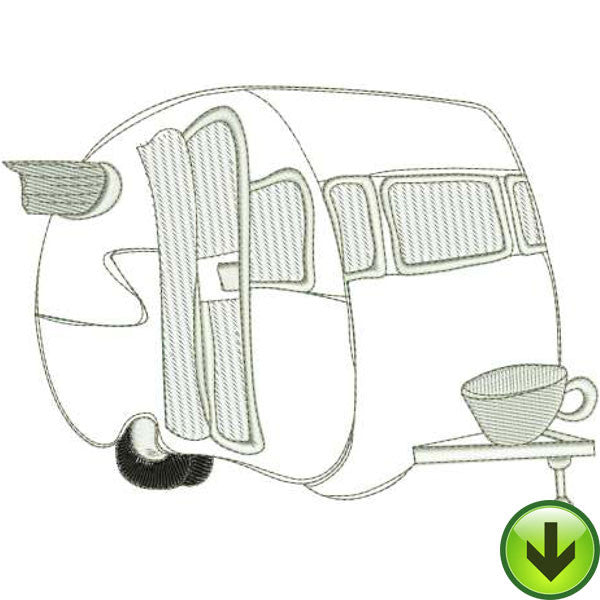 Coffee Coach Machine Embroidery Design | Download