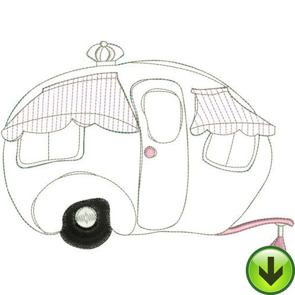 Dottie Trailer Machine Embroidery Design | Download