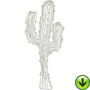 Saguaro Machine Embroidery Design | Download