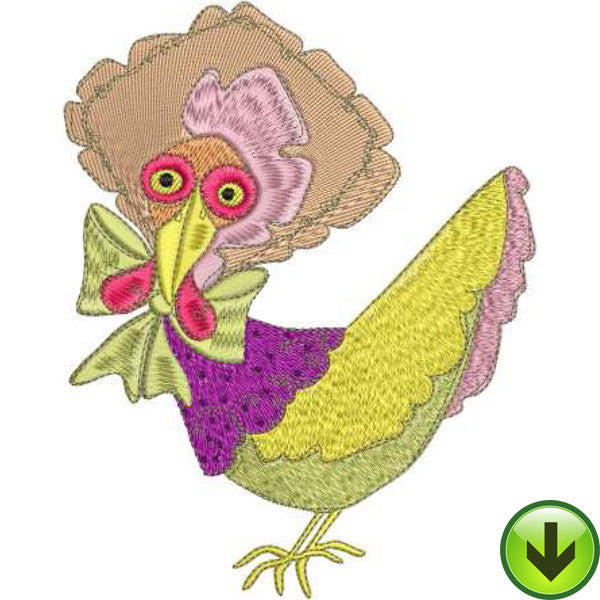 Hen of Color Machine Embroidery Design | Download