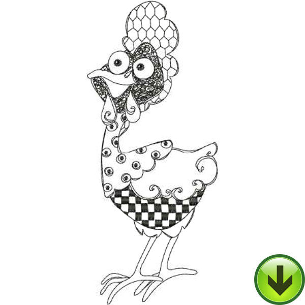 Chicken Chique 2 Machine Embroidery Design Collection | Download