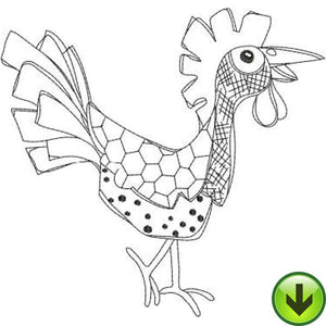 Cock A Doo Machine Embroidery Design | Download
