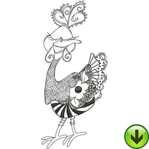 Sweet Chick Machine Embroidery Design | Download