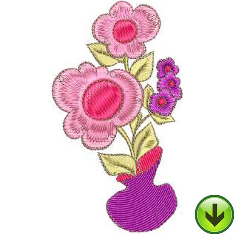 Posie Pot Machine Embroidery Design | Download