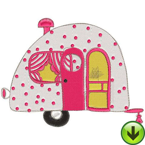 Happy Camper 1 Embroidery Machine Design Collection