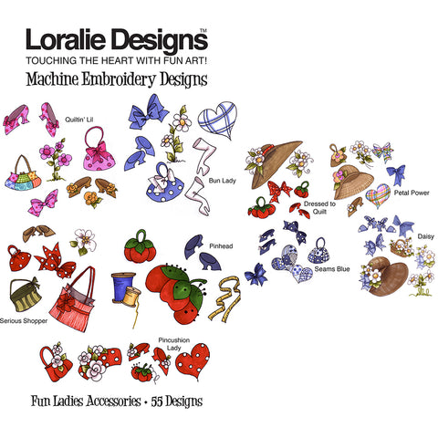 Fun Ladies Accessories Embroidery Machine Design Collection