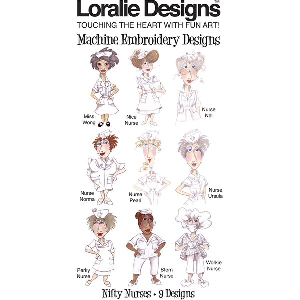 Nifty Nurses Embroidery Machine Design Collection
