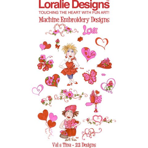 Val & Tina Embroidery Machine Design Collection