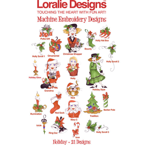Holiday Embroidery Machine Design Collection