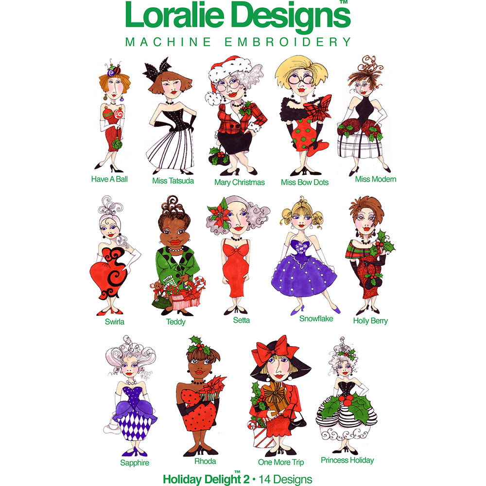 Holiday Delight 2 Embroidery Machine Design Collection