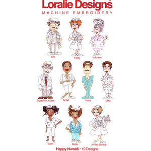 Happy Nurses Embroidery Machine Design Collection