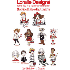 Loralie Salon Embroidery Machine Design Collection