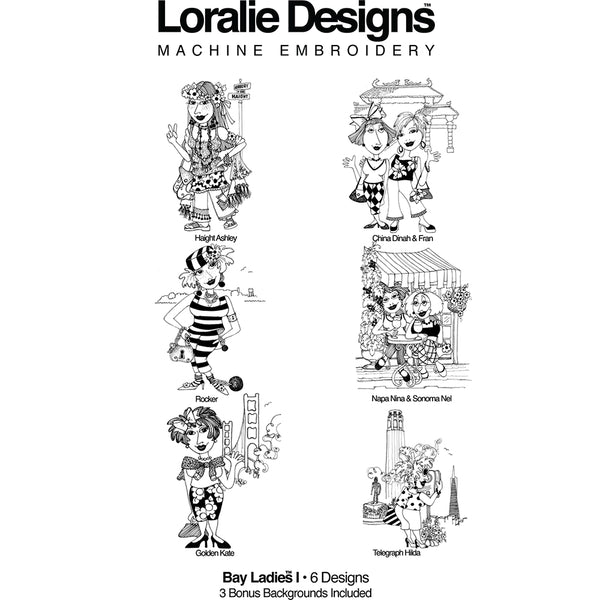 Bay Ladies 1 Embroidery Machine Design Collection