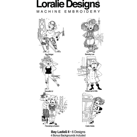Bay Ladies 2 Embroidery Machine Design Collection