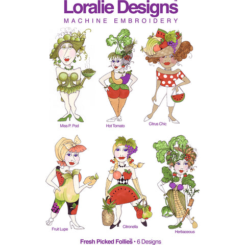 Fresh Picked Follies 1 Embroidery Machine Design Collection