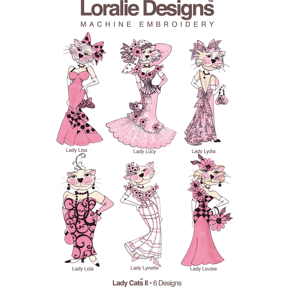 Lady Cats 2 Embroidery Machine Design Collection