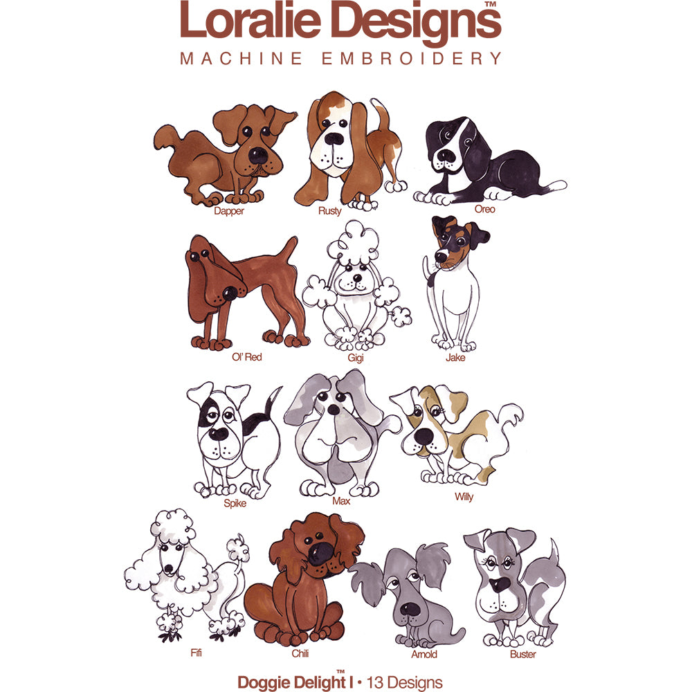 Doggie Delight 1 Embroidery Machine Design Collection