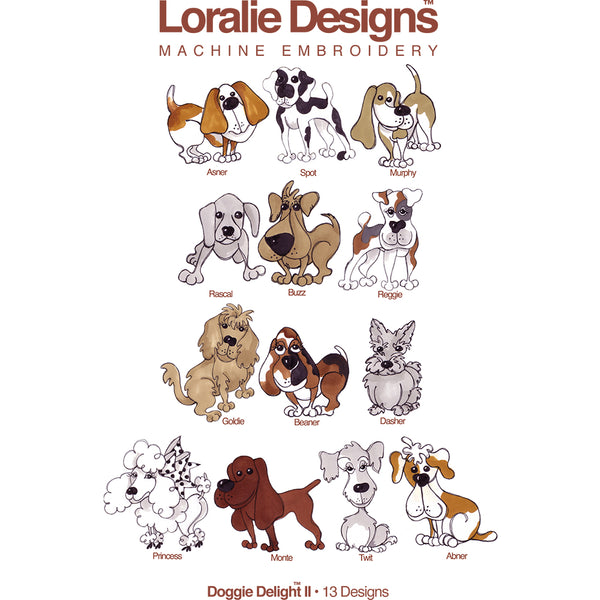 Doggie Delight 2 Embroidery Machine Design Collection