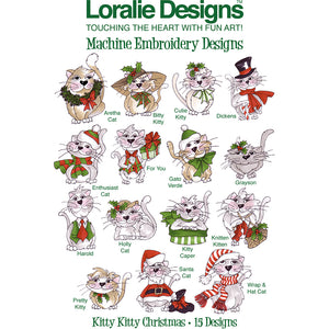 Kitty Kitty Christmas Embroidery Machine Design Collection