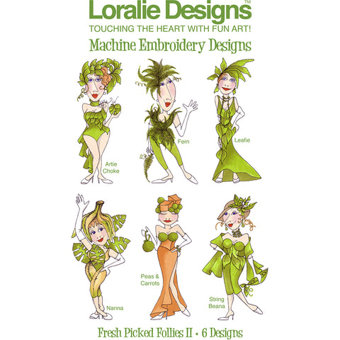 Fresh Picked Follies 2 Embroidery Machine Design Collection