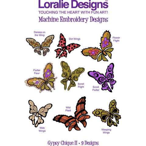 Gypsy Chique 2 Embroidery Machine Design Collection