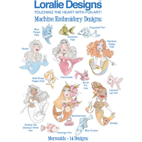 Mermaids Embroidery Machine Design Collection