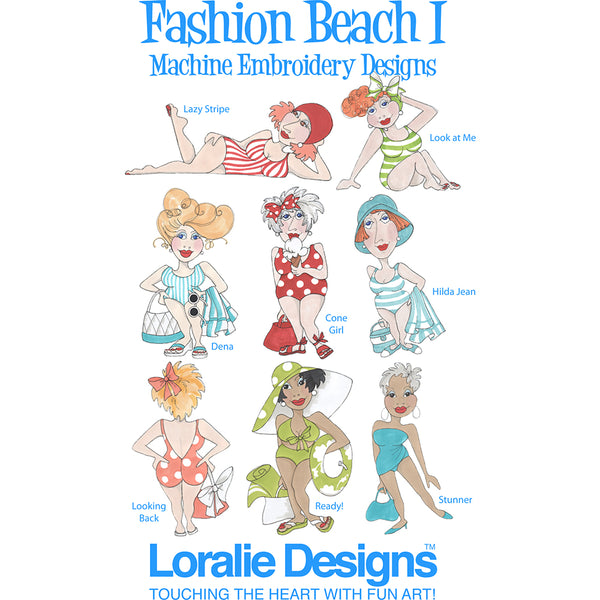 Fashion Beach 1 Embroidery Machine Design Collection