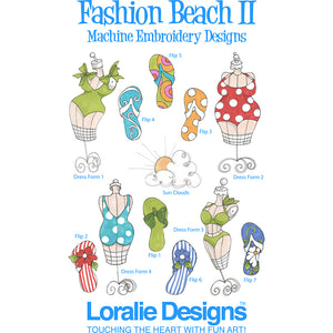 Fashion Beach 2 Embroidery Machine Design Collection
