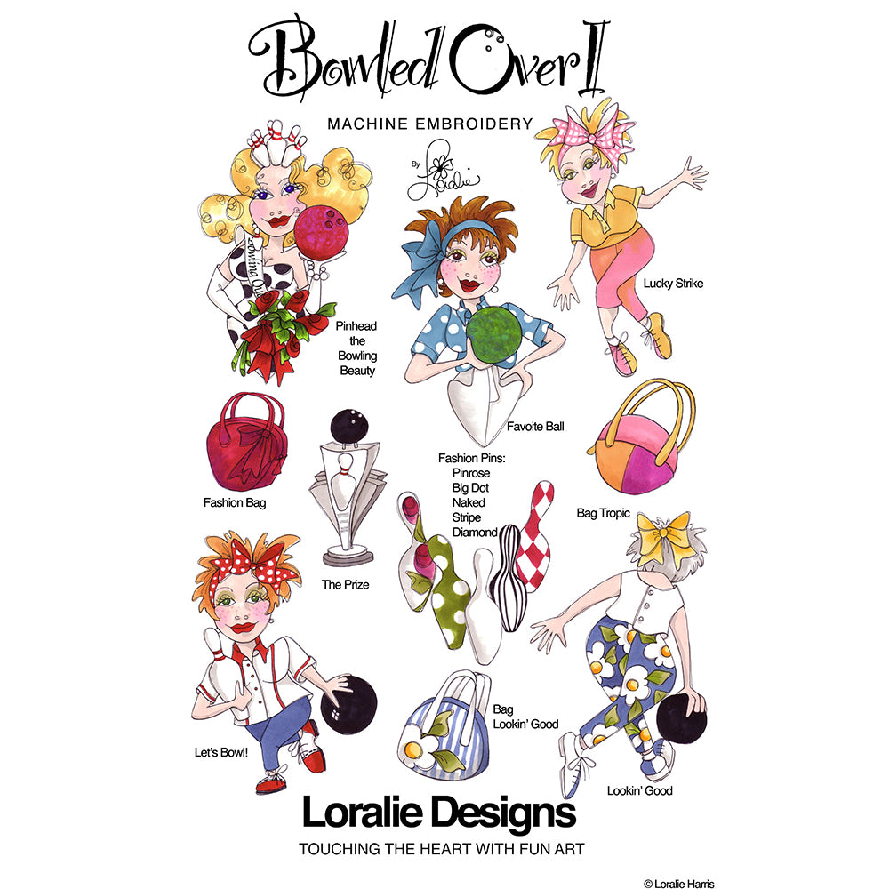 Bowled Over 1 Embroidery Machine Design Collection