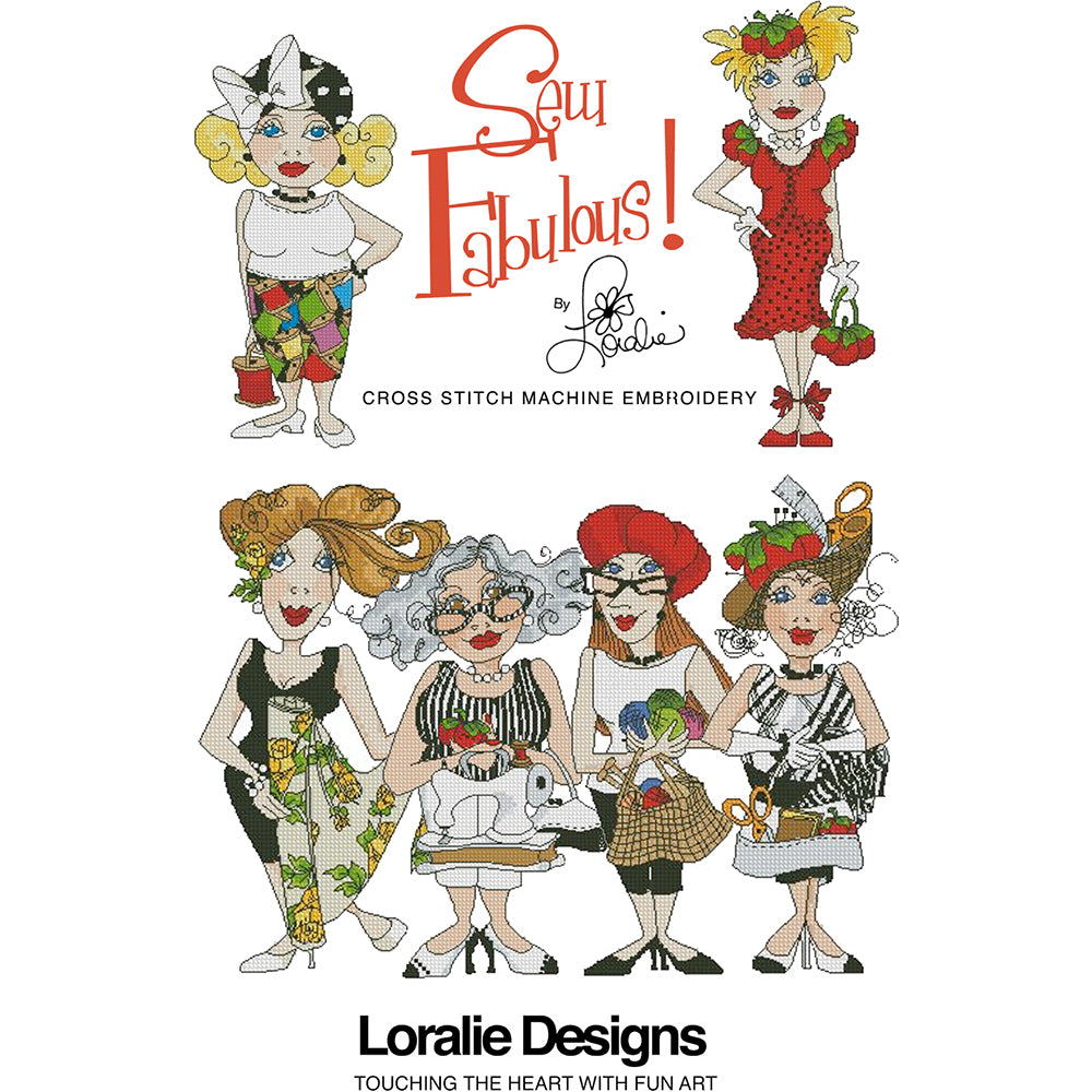 Sew Fabulous! Cross Stitch Embroidery Machine Design Collection