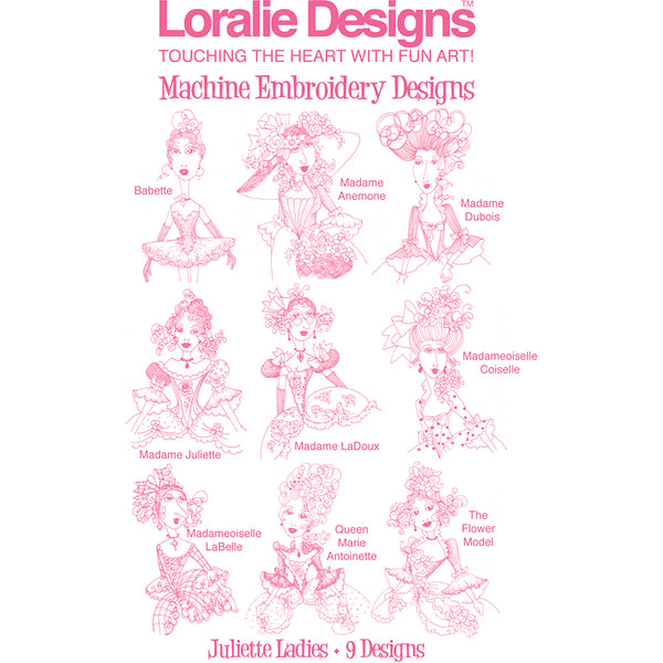 Juliette Ladies Embroidery Machine Design Collection