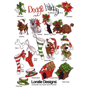 Doggie Holiday Embroidery Machine Design Collection