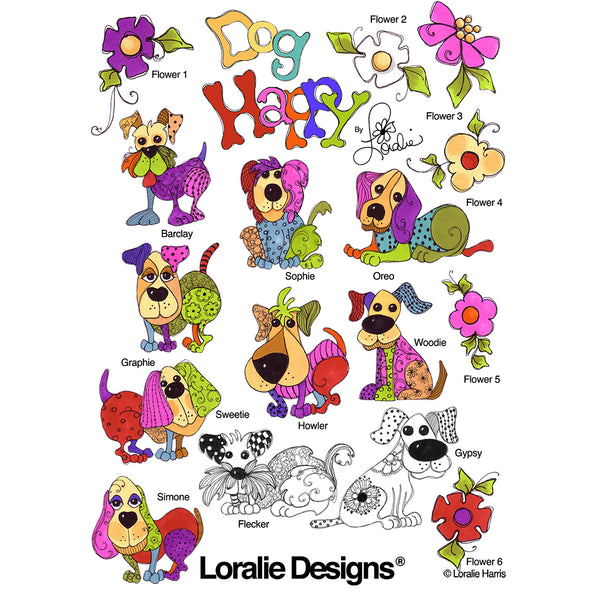 Dog Happy! Embroidery Machine Design Collection