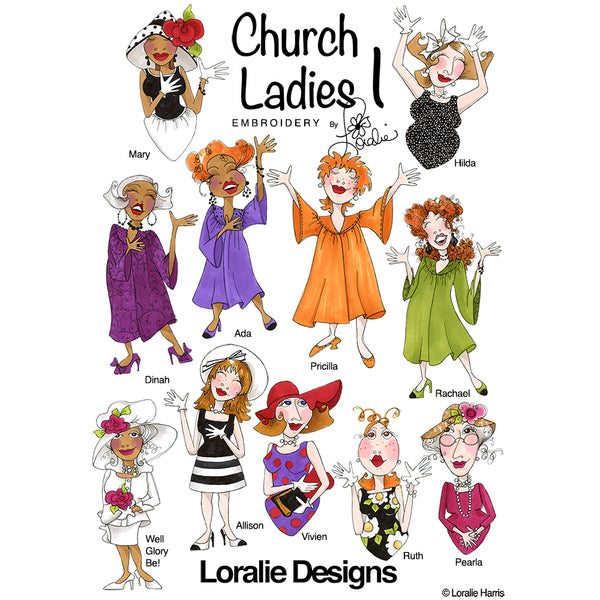 Church Ladies 1 Embroidery Machine Design Collection