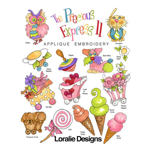 The Precious Express 2 Embroidery Machine Design Collection