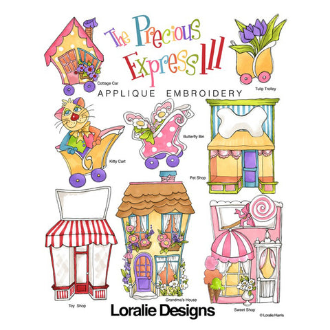 The Precious Express 3 Embroidery Machine Design Collection