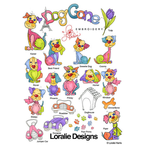 Dog Gone! Embroidery Machine Design Collection