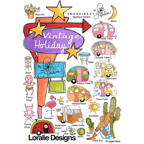 Vintage Holiday Embroidery Machine Design Collection
