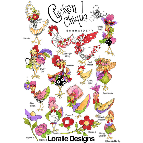 Chicken Chique 1 Embroidery Machine Design Collection