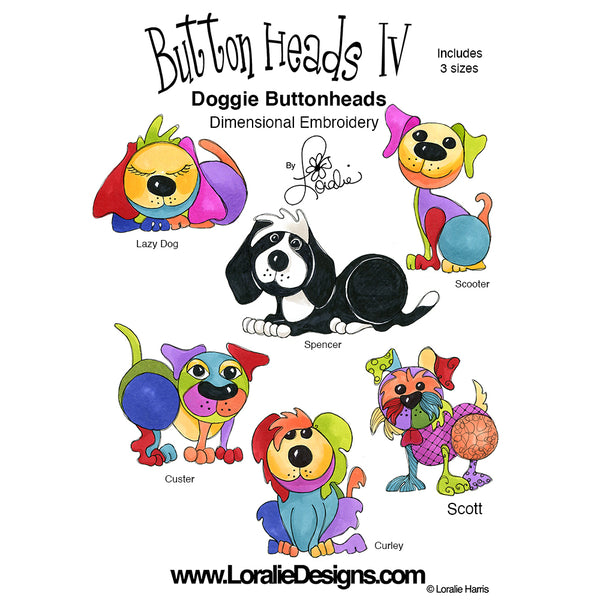 Button Heads 4 Embroidery Machine Design Collection