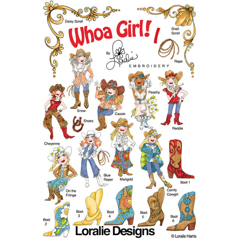 Whoa Girl! 1 Embroidery Machine Design Collection